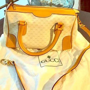 Vintage Gucci Leather Bag.